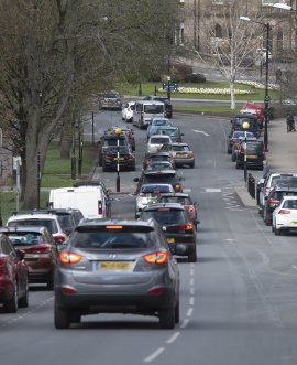 traffic in Harrogate town centre
