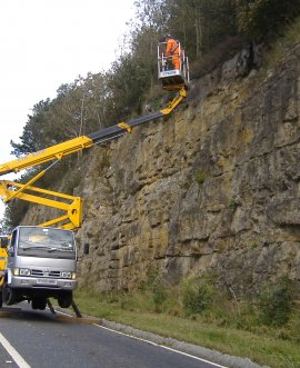 maintenance work on Sutton Bank last year