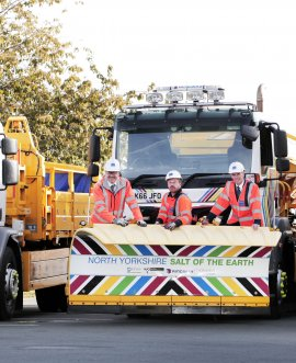 An 18 tonne gritter bedecked in rainbow colours and sporting the slogan 'North Yorkshire Salt of the Earth' is to feature in the first-ever UCI Road World Championships publicity caravan.