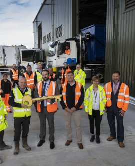 officials at the opening of the waste transfer station