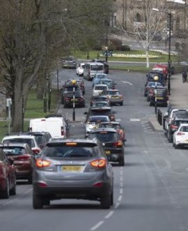 traffic on a Harrogate road