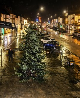 The Christmas tree in Northallerton