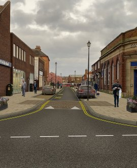 impression of the improvements in Zetland Street