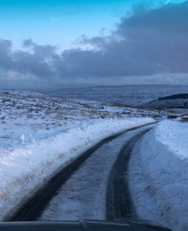 Snow on Fleet Moss in the Yorkshire Dales