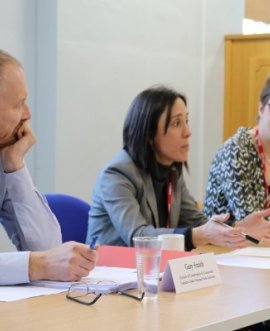 The panel give evidence to the Rural Commission
