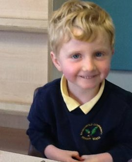 Max Prior back at Easingwold Primary School