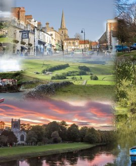 A montage of iconic landscapes from across North Yorkshire