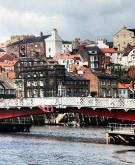 A photo of Whitby Swing Bridge